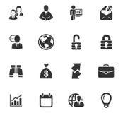 Iconos del asunto fijados Imágenes de archivo libres de regalías