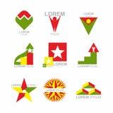 Iconos del asunto fijados Elementos del diseño para las plantillas del negocio coll Imagen de archivo libre de regalías