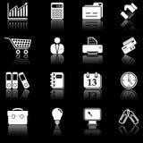 Iconos del asunto - serie negra Imagenes de archivo