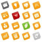 Iconos del asunto - serie pegajosa Imagen de archivo libre de regalías