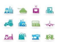 Iconos del asunto y de la industria Imagenes de archivo