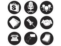 Iconos del asunto y de la oficina Fotografía de archivo
