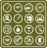 Iconos del asunto y de la oficina Imágenes de archivo libres de regalías
