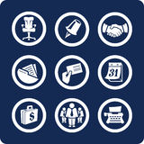 Iconos del asunto y de la oficina (fije 5, parte 2) Imagenes de archivo