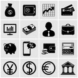 Iconos del asunto y de las finanzas Imagenes de archivo