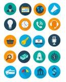 Iconos del asunto y de las finanzas Foto de archivo libre de regalías