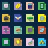 Iconos del asunto y de las finanzas Fotos de archivo libres de regalías