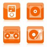 Iconos del audio de la música stock de ilustración