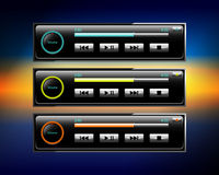 Iconos del audio para el automóvil Foto de archivo