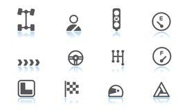 Iconos del automóvil Imagen de archivo libre de regalías