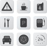 Iconos del automóvil stock de ilustración