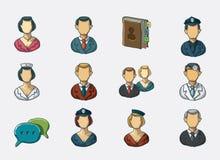 Iconos del avatar Stock de ilustración