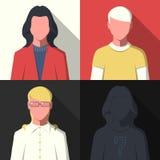Iconos del avatar del perfil Imágenes de archivo libres de regalías