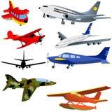 Iconos del avión Imagen de archivo libre de regalías