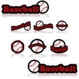 Iconos del béisbol ilustración del vector