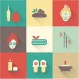 Iconos del balneario Foto de archivo libre de regalías