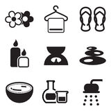 Iconos del balneario Fotografía de archivo libre de regalías