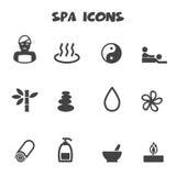 Iconos del balneario Imagen de archivo