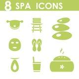 Iconos del balneario fijados ilustración del vector