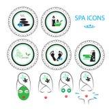 Iconos del balneario fijados Fotografía de archivo libre de regalías