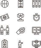 Iconos del baloncesto Fotos de archivo libres de regalías