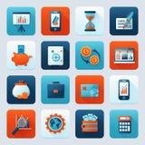 Iconos del banco fijados Imagen de archivo libre de regalías