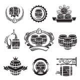 Iconos del barril fijados Fotos de archivo