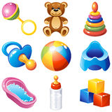 Iconos del bebé Fotografía de archivo libre de regalías