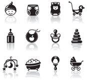 Iconos del bebé Fotos de archivo libres de regalías