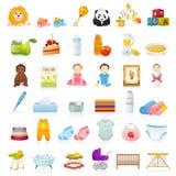 Iconos del bebé Imagen de archivo