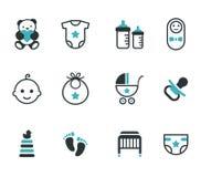 Iconos del bebé Foto de archivo libre de regalías