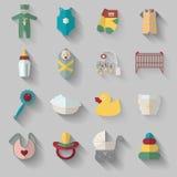 Iconos del bebé Imágenes de archivo libres de regalías