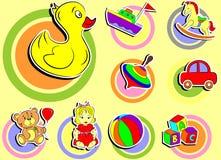Iconos del bebé Foto de archivo