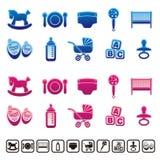 Iconos del bebé Fotografía de archivo