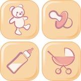 Iconos del bebé Imagenes de archivo