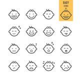 Iconos del bebé fijados libre illustration