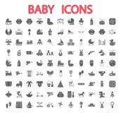 Iconos del bebé fijados Imagenes de archivo