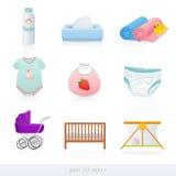 Iconos del bebé. Parte 1 Imagen de archivo libre de regalías