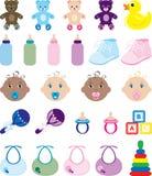 Iconos del bebé Imagen de archivo libre de regalías