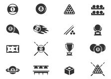 Iconos del billar fijados Fotos de archivo