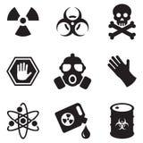 Iconos del Biohazard Fotografía de archivo