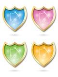 iconos del blindaje brillantes   ilustración del vector