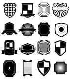 Iconos del blindaje fijados Foto de archivo