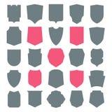 Iconos del blindaje fijados stock de ilustración
