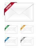 Iconos del boletín de noticias del Spam Imagenes de archivo