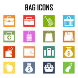 Iconos del bolso fijados Imágenes de archivo libres de regalías