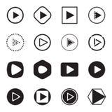 Iconos del botón de reproducción Ilustración del vector libre illustration