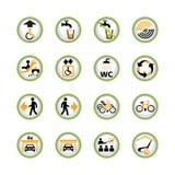 Iconos del botón del acceso público Foto de archivo libre de regalías