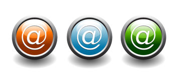Iconos del botón del direccionamiento del Web ilustración del vector