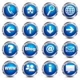 Iconos del botón del Internet Imágenes de archivo libres de regalías